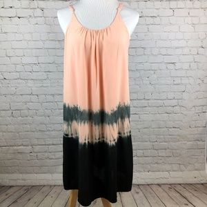 YA Los Angeles Pink Tie Dye Boho Slip Dress Small